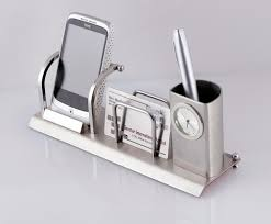 mobile holder visiting card holder and pen stand with at rs