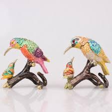 2017 faberge bird bejeweled trinket box crystal jewelry box for