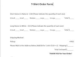 100 order sheet template free free fundraiser order form