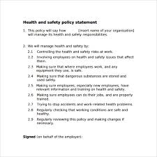 doc health and safety policy u2013 health and safety policy images