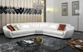 Modern Leather Sectional Couch Furniture Modern Italian White Pearl Leather Sectional Sofa And