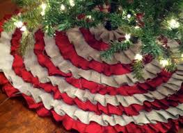 Ideas For Christmas Tree Skirts by Holiday Craft Ideas No Sew Ruffle Tree Skirt Huffpost