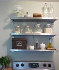 simple aluminium shelves kitchen design decorating cool to