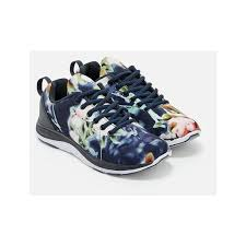 blue patterned shoes justfab sneakers essina 40 liked on polyvore featuring shoes