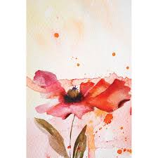 floral wall mural flower wall stickers floral wall decals red watercolor flower wall mural