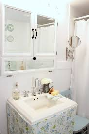 medicine cabinet magnifying mirror bathroom shabby chic style with