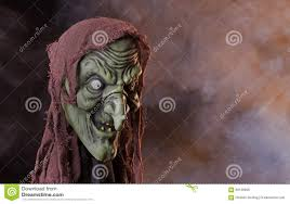 scary witch head prop stock photo image 58138998