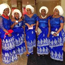 oleic styles in nigeria george wrapper fuchsia pink and turquoise blue wedding guests asoebi