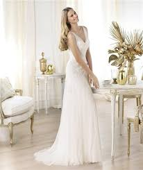 wedding dress sheer straps sheath v neck sheer straps tulle wedding dress with lace applique