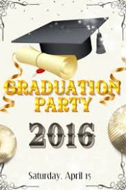 graduation poster customizable design templates for graduation party postermywall