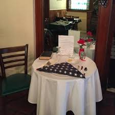 Fallen Comrade Table by Restaurants Missing Man Table