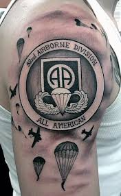 30 airborne tattoos for men military ink design ideas