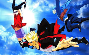 wallpaper naruto gaiden naruto gaiden wallpaper special new team 7 free falling from