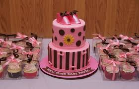 pink and brown baby shower pink and brown baby shower cake with bootie topper cake in cup ny