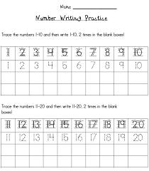 handwriting worksheets with numbers printable writing numbers 1 20 worksheets ora exacta co