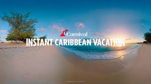instant caribbean vacation interactive 360 carnival