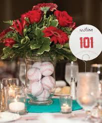 baseball wedding table decorations baseball themed wedding centerpiece wedding pinterest wedding