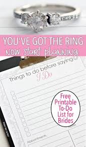 free printable to do list for brides to be