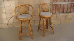 pair of vintage rattan bar stools and chairs tiki central