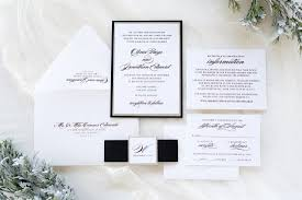 wedding invitations chicago formal silver glitter black and white wedding