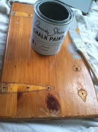 annie sloan chalk paint in french linen over knotty pine kitchen