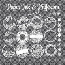 ornaments set of 10 customizable papercut template