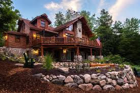 rustic landscape and yard with raised beds by dickinson homes
