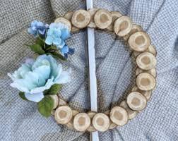 blue wreath etsy