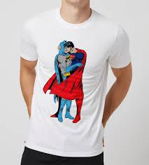 halloween t shirts for men popular t shirt funny between the capes batman superman kiss tee