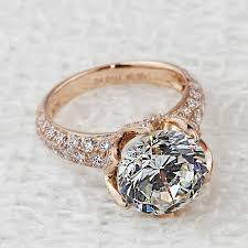 gold pave rings images Pt950 stamp luxury 4 carat lab diamond ring rose gold plated jpg