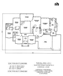 4 Bedroom Home Floor Plans Plan No 2541 1011