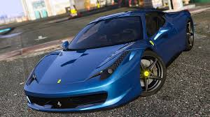 Ferrari 458 Blue - ferrari 458 italia autovista add on replace tuning template