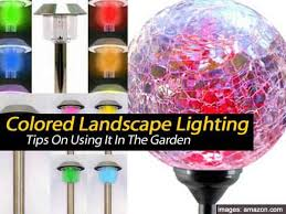 Colored Landscape Lighting Tips On Using Colored Landscape Lighting In The Garden