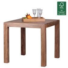Esszimmer Tisch Massiv Finebuy Esstisch Massivholz Akazie 80 Cm Esszimmer Tisch Holztisch