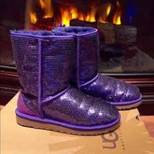 ugg womens glitter boots ugg australia purple lilac sparkle boots 7 without box