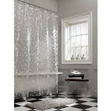 Shower Curtain Vinyl - frosted white ice circles on clear vinyl shower curtain 14