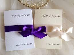 Wedding Invitations With Ribbon Cheap Wrap Ribbon Wedding Invitations