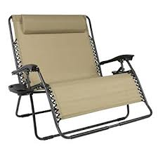 Foldable Outdoor Chairs Amazon Com Best Choice Products Folding 2 Person Oversized Zero