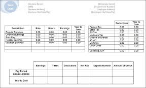 download pay stub template download a free pay stub template for