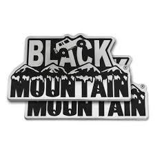 jeep black emblem emblem plate set black mountain jeep