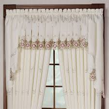 bella rose embroidered window tiers