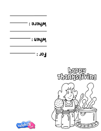thanksgiving invitations 11 printables to color and fold into