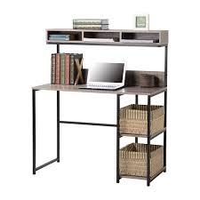 Compact Computer Desk With Hutch by Amazon Com Computer Desk With Hutch Kitchen U0026 Dining