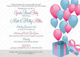reveal baby shower gender reveal announcement balloon baby shower invitation