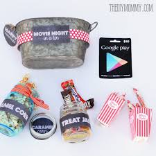 printable tags for gift baskets gift basket idea a movie night in a tin includes free printable