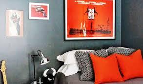orange u0026 gray bedroom decorating u0026 design ideas youtube