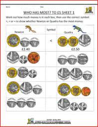 money worksheets uk