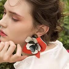 big ear rings images Lilian big flower stud earrings watereverysunday jpg
