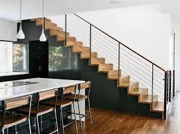 furniture home interior design with staircase railings and large