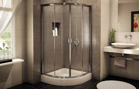 bathroom kohler shower doors with rain shower and daltile wall